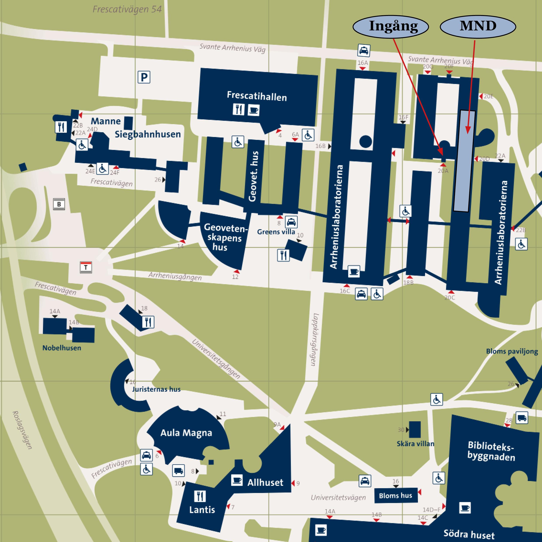 su karta Hitta till oss   Institutionen för matematikämnets och  su karta